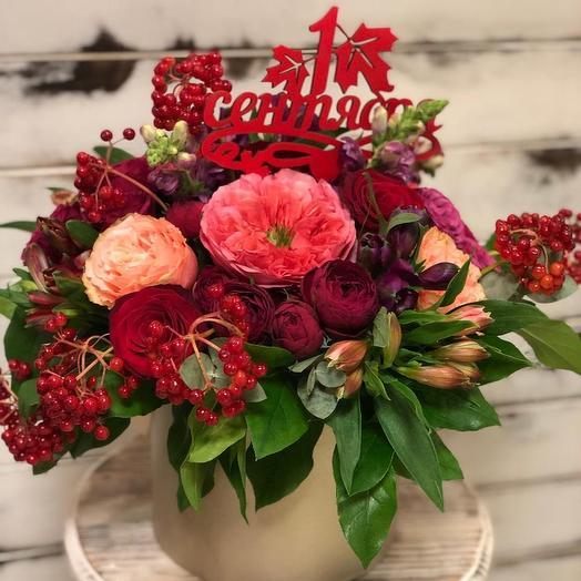 Сочный микс для любимого Учителя: букеты цветов на заказ Flowwow
