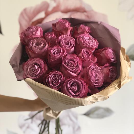 Букет из 17 роз Мистик: букеты цветов на заказ Flowwow