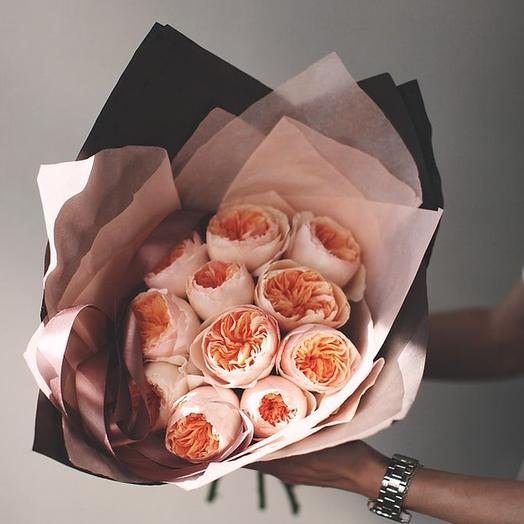 "Букет ""Дэвида Остина Джульетта"" Small: букеты цветов на заказ Flowwow"