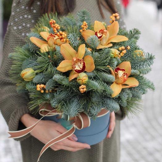 Солнечная зима: букеты цветов на заказ Flowwow