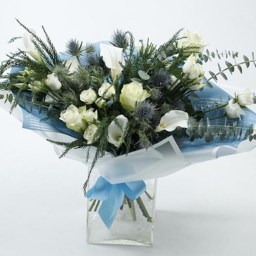 Букет «Белые каллы»: букеты цветов на заказ Flowwow