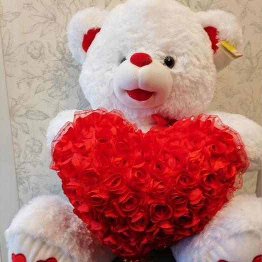 Мишка love: букеты цветов на заказ Flowwow