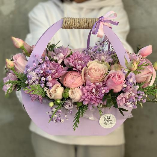 Сумочка с цветами S «Лавандовый шарм»