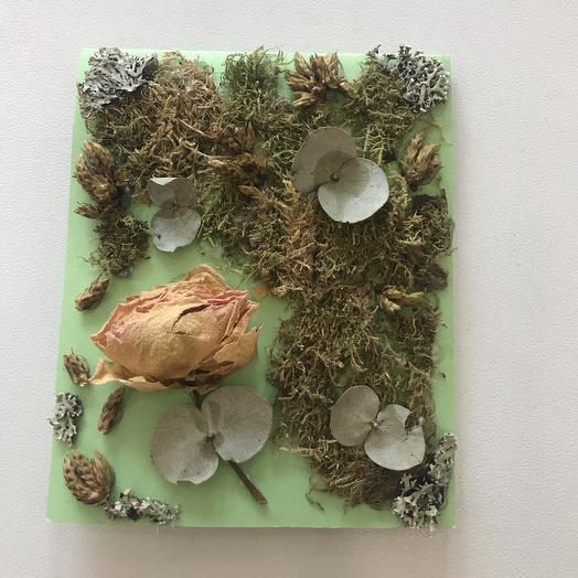 Открытка из природных материалов: букеты цветов на заказ Flowwow