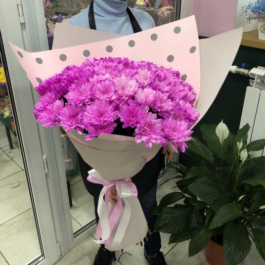 Букет 15 хризантем: букеты цветов на заказ Flowwow