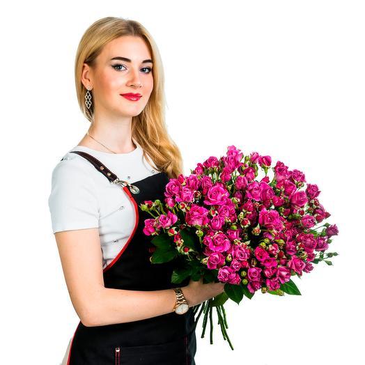 15 малиновых кустовых роз: букеты цветов на заказ Flowwow