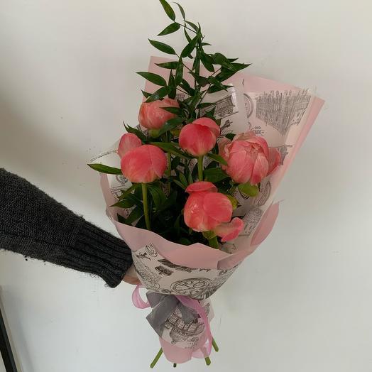 Букет  Коралл: букеты цветов на заказ Flowwow