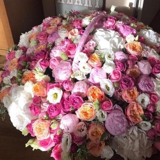 """Корзина  цветов """"Изысканный вкус"""""""