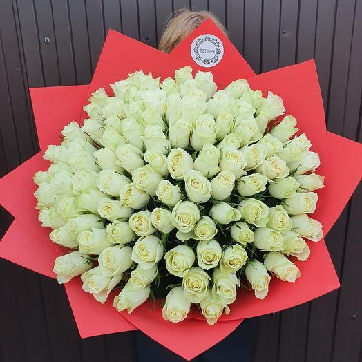 101 белая роза импортная