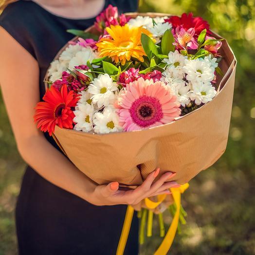 Букет из хризантемы и гербер