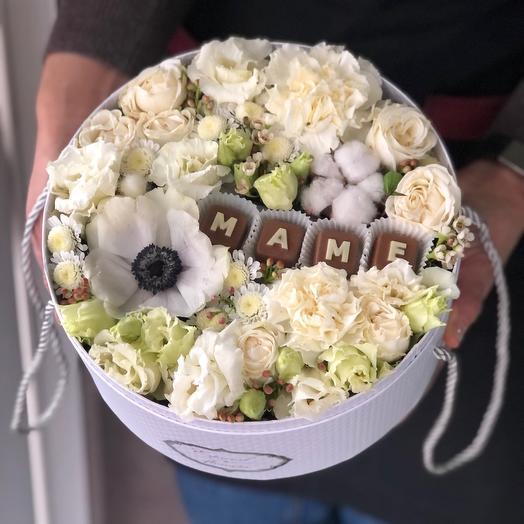 Цветы в коробке для мамочки 💞