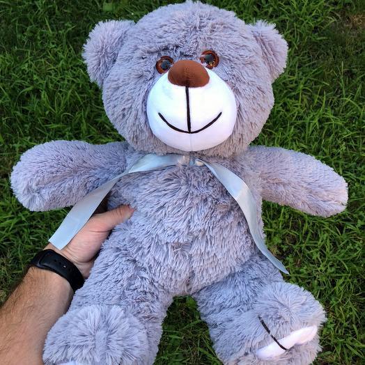 Плюшевий ведмедик 50 см сірий