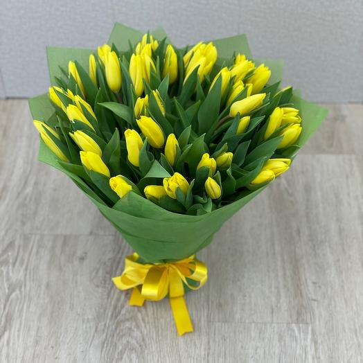 Букет из жёлтых тюльпанов
