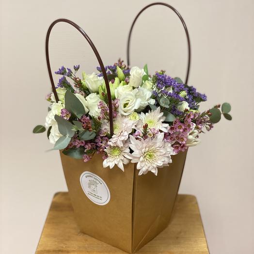 Цветы в коробке/сумке