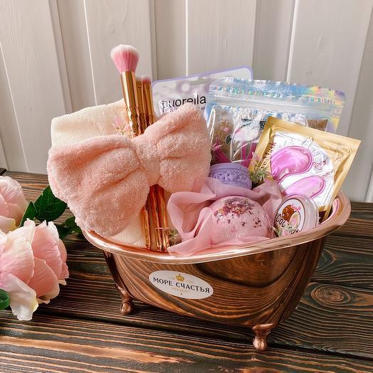 Косметический подарочный набор в ванной «Спа ванна» / Подарок девушке