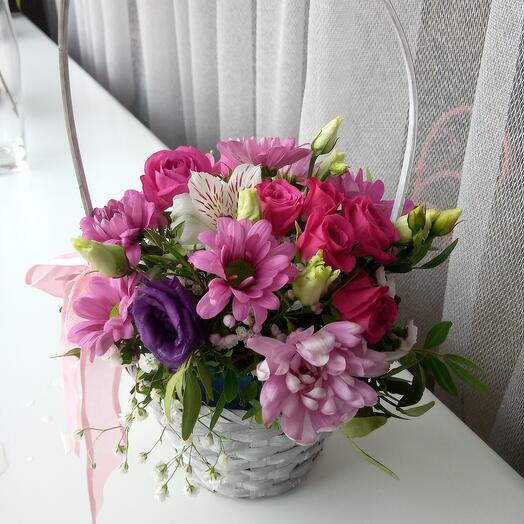 Корзинка с цветами)