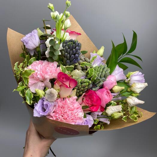 💐 Букет-комплимент с гиацинтами и розами