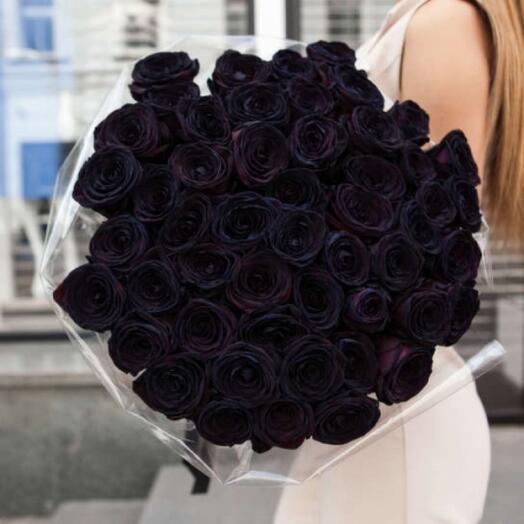 Букет из чёрных Роз