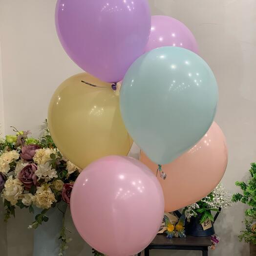 Воздушные шарики «макарун» 7 шт