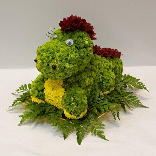 Фигура из цветов Динозаврик: букеты цветов на заказ Flowwow
