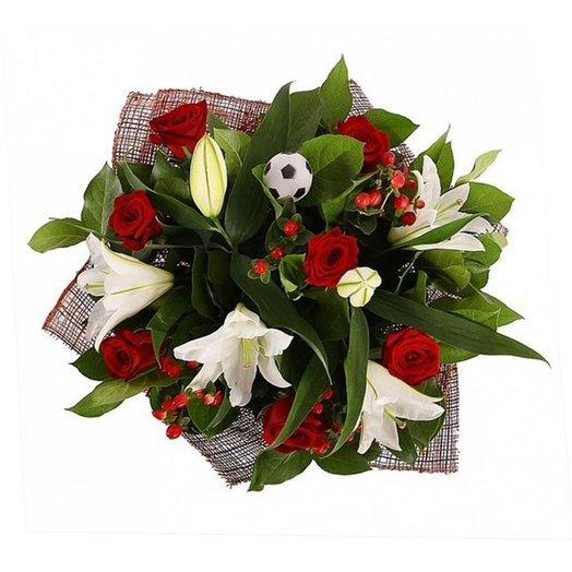 Букет из лилий с розами