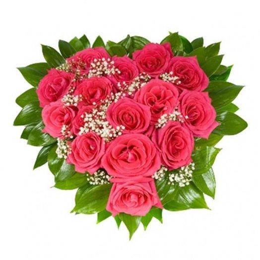 Композиция из роз Моя любовь: букеты цветов на заказ Flowwow
