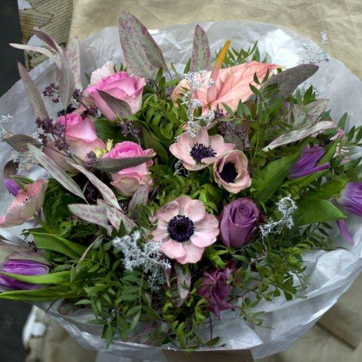 Розовый вечер: букеты цветов на заказ Flowwow
