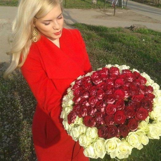 Букет из 101 розы Эсмеральда