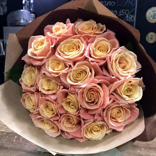Букет из роз Мисс Пигги
