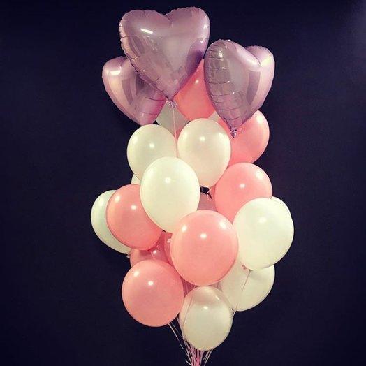 "Воздушная композиция ""Сердце Ангела"": букеты цветов на заказ Flowwow"