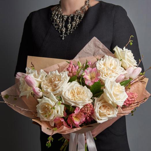 "Букет ""Весенние облака"": букеты цветов на заказ Flowwow"