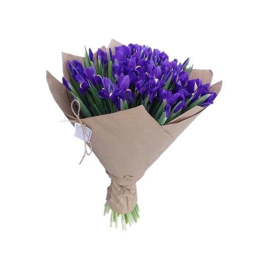 Букет из 29  ирисов: букеты цветов на заказ Flowwow