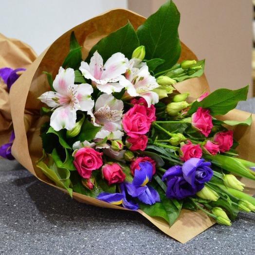 Комплимент в крафте 1: букеты цветов на заказ Flowwow