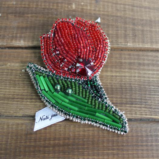 """Брошь """"Тюльпан"""": букеты цветов на заказ Flowwow"""