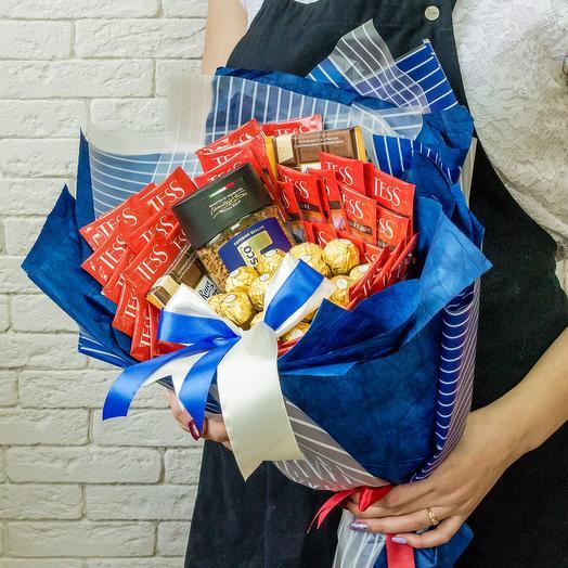 Чайно-кофейный букет: букеты цветов на заказ Flowwow