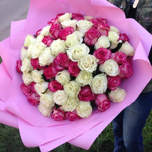 65 роз: букеты цветов на заказ Flowwow