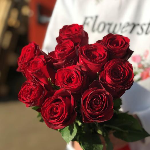 Розы. Букет из 11 кенийских роз. N549: букеты цветов на заказ Flowwow