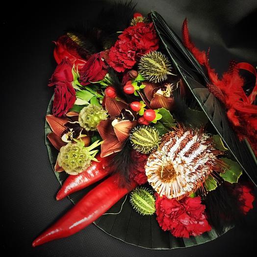 Пикантный букет 4: букеты цветов на заказ Flowwow