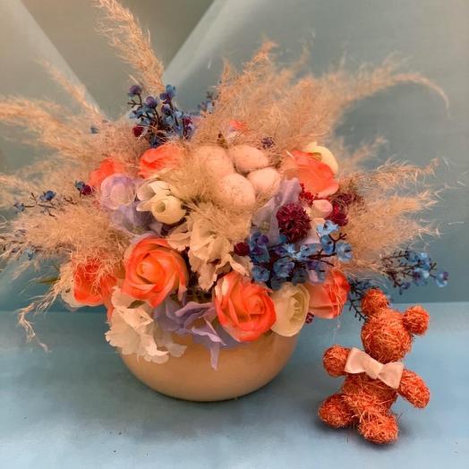 Композиция из сухоцветов: букеты цветов на заказ Flowwow