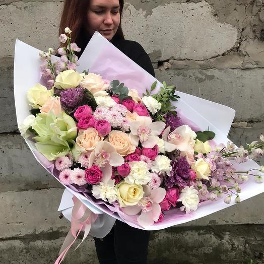 "Сборный букет ""Необъятное чудо"": букеты цветов на заказ Flowwow"