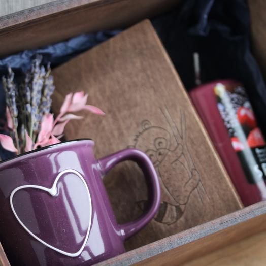 Лавандовая коробка: букеты цветов на заказ Flowwow