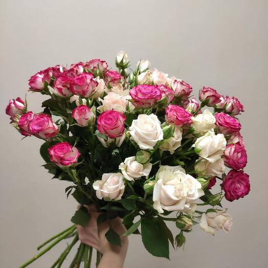 Кустовые розочки: букеты цветов на заказ Flowwow