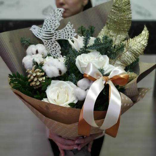 Новогодний (зимний) букет: букеты цветов на заказ Flowwow