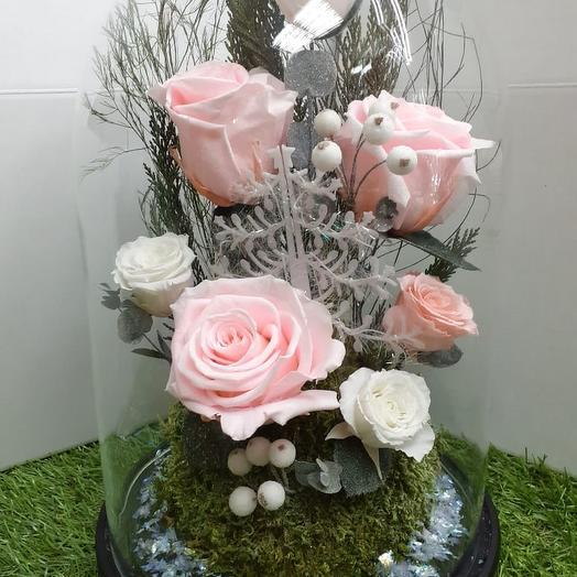 """Новогодняя композиция """"Снежный Ангел"""": букеты цветов на заказ Flowwow"""