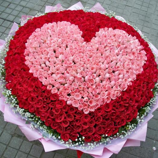 Сердце наполнено любовью: букеты цветов на заказ Flowwow