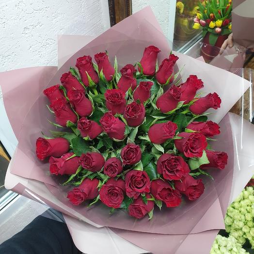 Букет из 33 роз: букеты цветов на заказ Flowwow