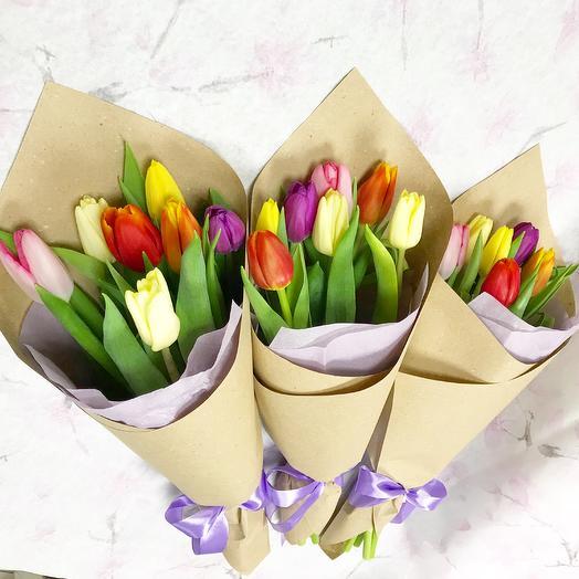 7 Тюльпанов микс: букеты цветов на заказ Flowwow