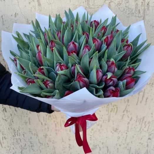 """Тюльпаны """"Red Princess"""": букеты цветов на заказ Flowwow"""