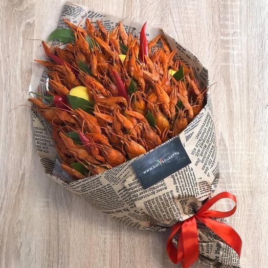 Букет из раков в крафт-упаковке: букеты цветов на заказ Flowwow
