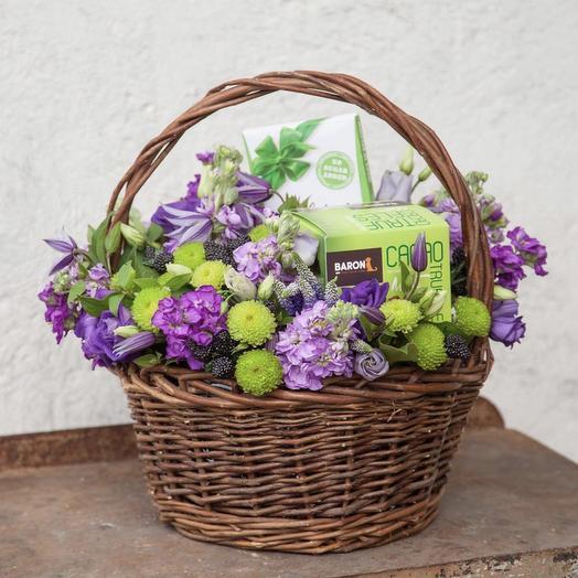 Черничный трюфель: букеты цветов на заказ Flowwow
